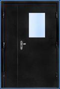 Дверь противопожарная ТОУН EI-60 двупольная с остеклением (ДМПО-2)
