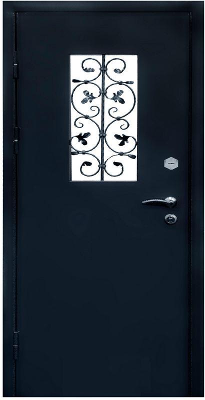 входная дверь металлическая двухлистовая эконом