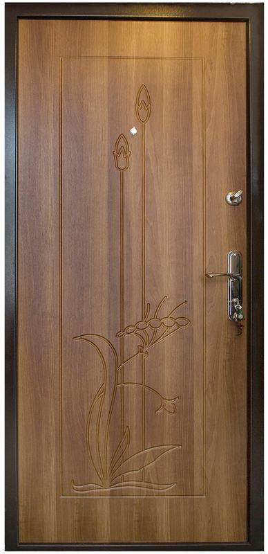 Открывающаяся вовнутрь дверь металлическая двухлистовая