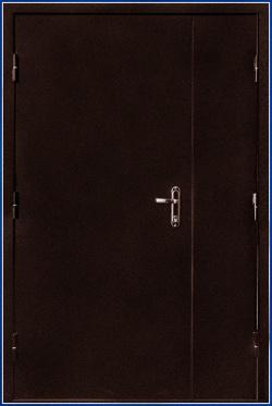 Дверь металлическая двухлистовая двупольная