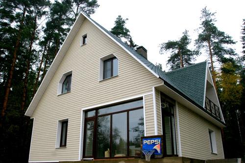 Загородный дом остекление профилем rehau